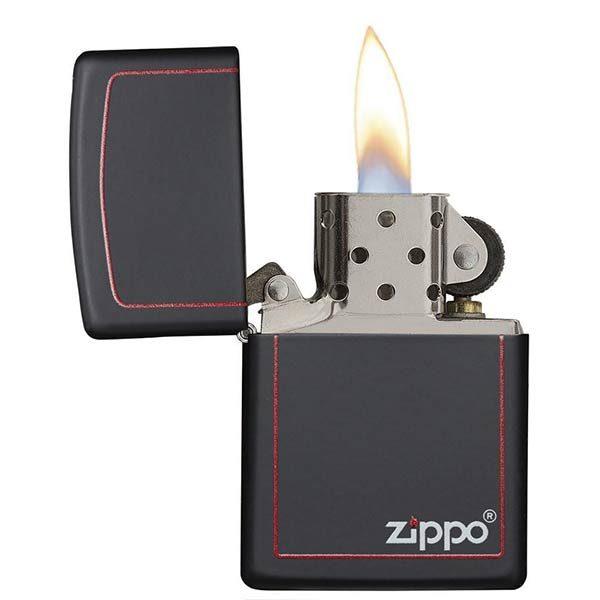 Zippo-218ZB-Border-Black-Matte