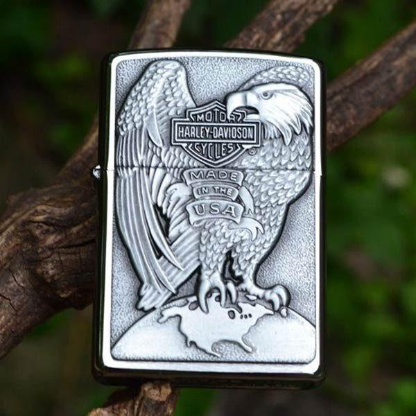 Zippo-Lighter-Harley-Davidson-Eagle