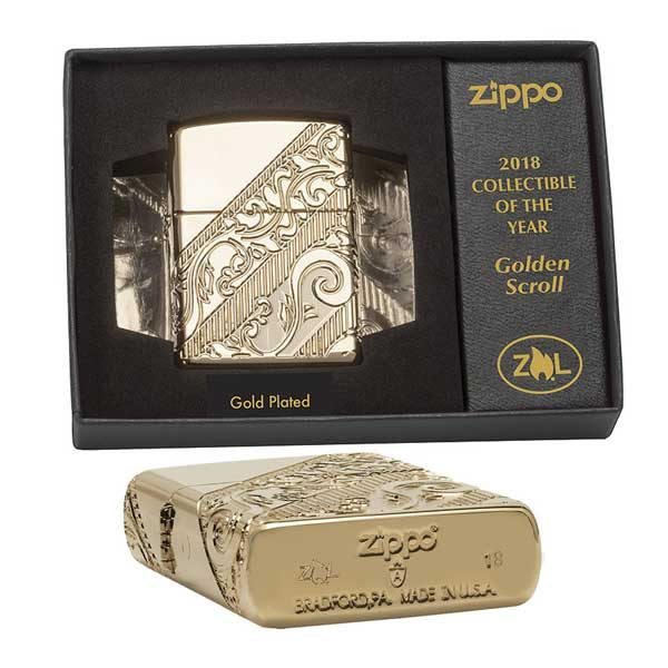Zippo 29653 Gold Scroll
