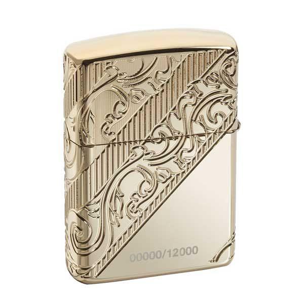 فندک زیپو کد 29653 با آبکاری طلا
