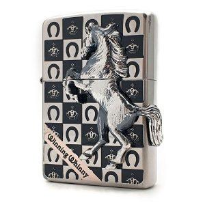 فندک زیپو آبکاری نقره Zippo GC-Sv Silver Horse Emblem