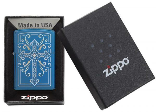 فندک زیپو اصل کد 29608 Elegant Cross Design
