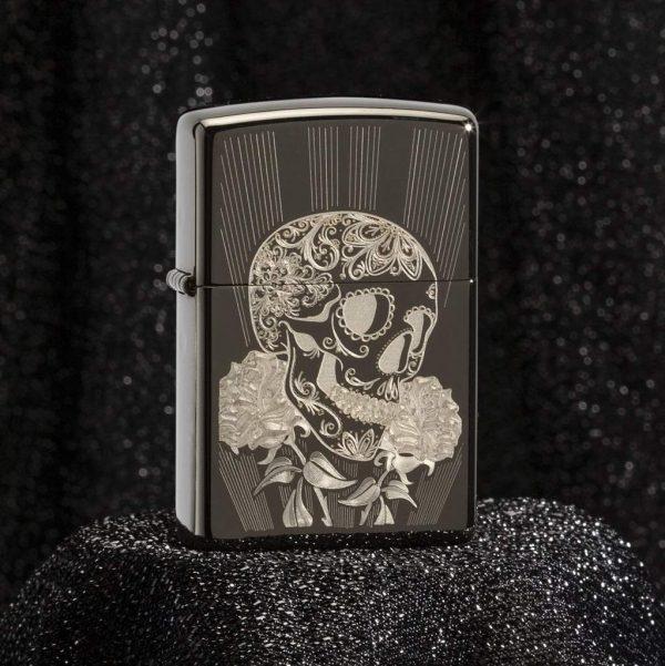 فندک زیپو اصل کد 29883 Fancy Skull Design
