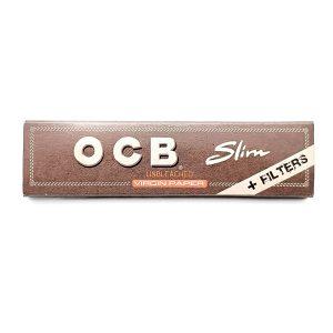 کاغذ سیگار بلند OCB قهوه ایی با فیلتر کاغذی